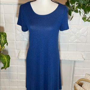 Old Navy Blue Plush Knit Swing Dress.